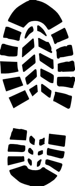 boot print clip art  clkercom vector clip art