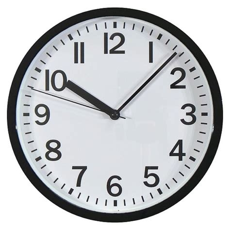 curtains white and black 9 quot wall clock room essentials target