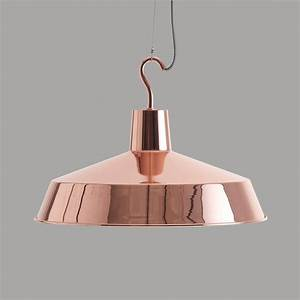 Large europa copper pendant light by horsfall wright