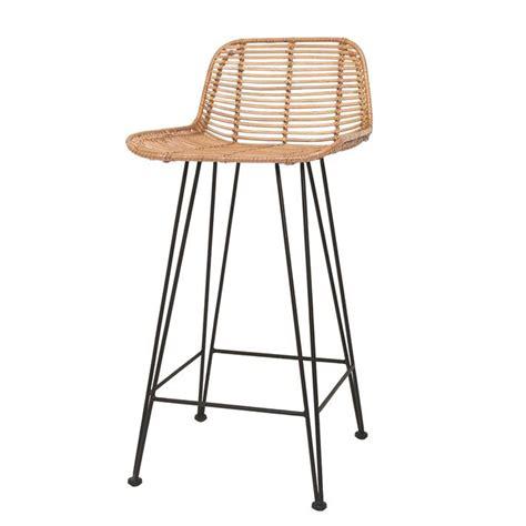 chaise de bar vintage scandi style rattan breakfast bar stool in bar