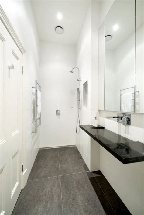 Modern Bathroom Layout by Small Narrow Bathroom Layouts With Shower Tiny Modern