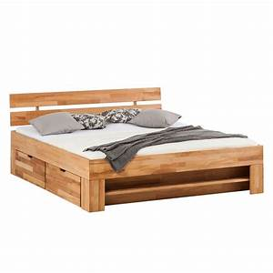 Lit En Bois : lit coffre 160 200 bois massif ~ Melissatoandfro.com Idées de Décoration
