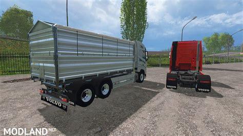 volvo trailer for volvo fh16 and trailer v 1 1 mod for farming simulator
