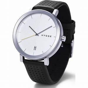 Hygge 2203 Silver Watch Black Leather - Sportique