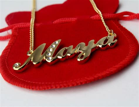 Gold Necklace For Women With Name - Jewelry Ideas