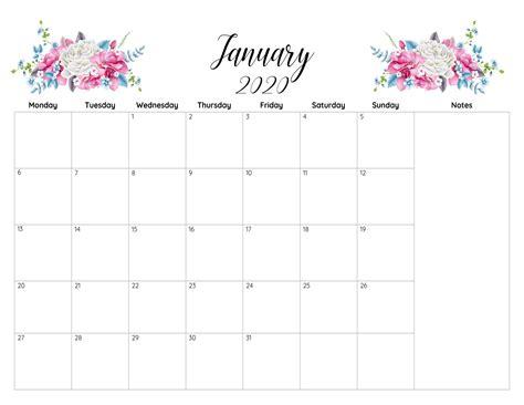 printable calendar january  excel template printable