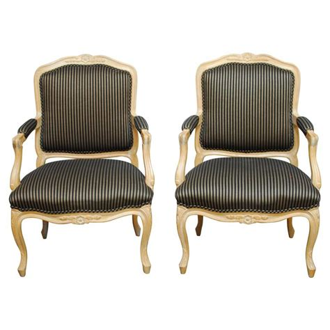 pair of louis xv style carved fauteuil armchairs for sale at 1stdibs