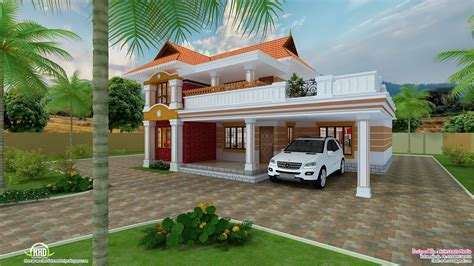 Villa Home Plans by Beautiful Villa Design Kerala Home Floor Plans