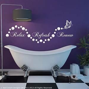 Relax badezimmer Aufkleber En Wohnzimmer Wandkunst Mit