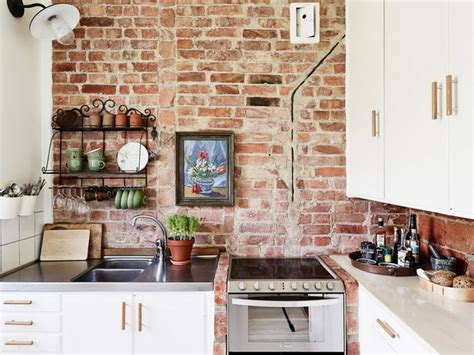 20 beautiful brick and kitchen 28 exposed brick wall kitchen design ideas home tweaks
