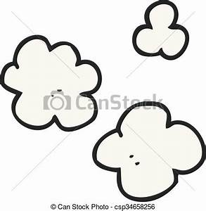 Freehand drawn cartoon puff of smoke clipart vector ...