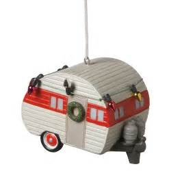 decorated for christmas holiday teardrop cer trailer ornament ebay