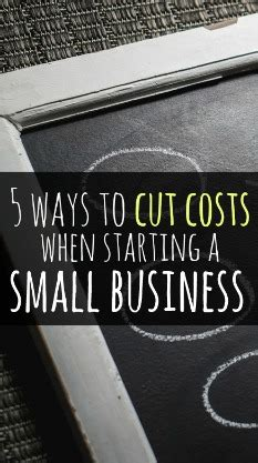 How To Cut Costs When Starting A Small Business Single