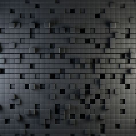 3D Cube Wall Design - iPad Retina Wallpaper for iPhone X