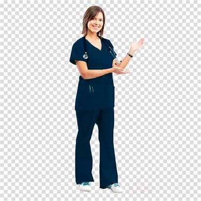 Nurse Scrubs Clipart Cartoon Medical Transparent Clip