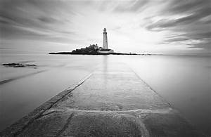 Black And White Lighthouse Wall Mural