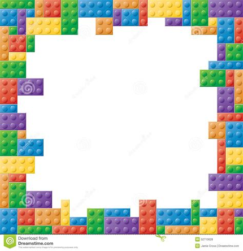 colored picture frames square colored block picture frame stock vector