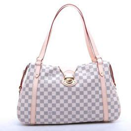 louis vuitton aaa damier canvas azur checkered pattern bag business lady gift
