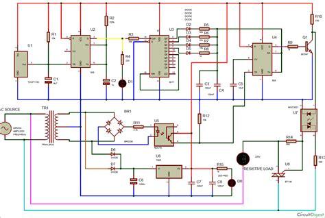 Remote Controlled Triac Dimmer Circuit Diagram