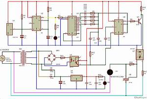 Ir Remote Controlled Triac Dimmer Circuit Diagram