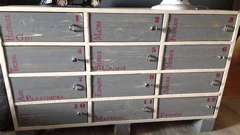 armoire bureau bois meuble fabriqué en bois de palette