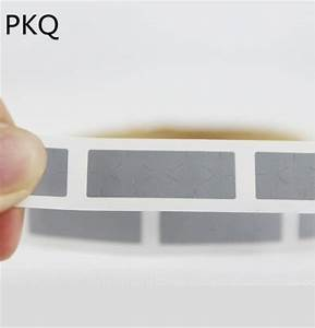 1000pcs 20 20mm Scrathed Label Tape In Roll Gray Adhesive