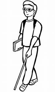 Blind Man Walking Clipart (10+)