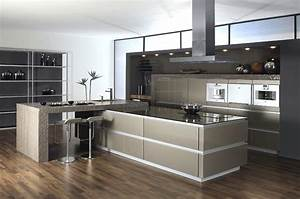 Cuisine Avec Ilot : ilot central cuisine avec table centrale newsindo co avec ~ Melissatoandfro.com Idées de Décoration