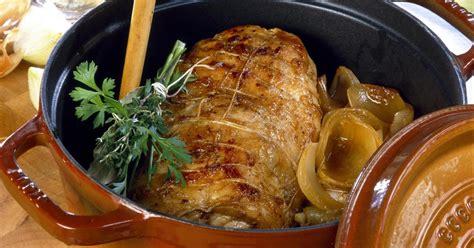 recette roti de porc en cocotte  la moutarde