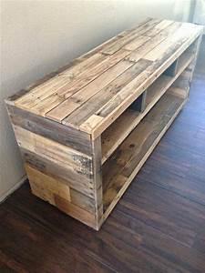 DIY Pallet Media Console Table Pallet Furniture DIY
