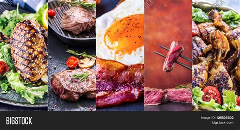 food on grill grill food grill meat chicken image photo bigstock