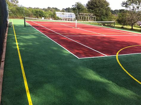Tennis courts are flat rectangular playing surfaces used for the sport of tennis. Tennis Court Dimensions | UK Tennis Courts Size