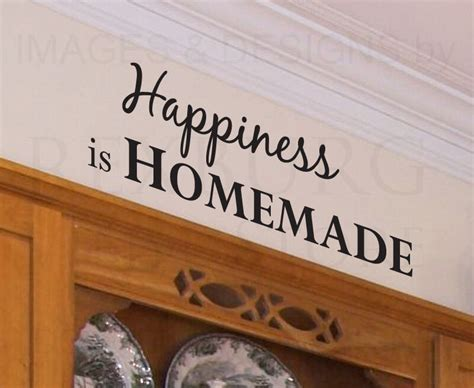 Decorative Quotes - wall decal quote sticker vinyl removable happiness is