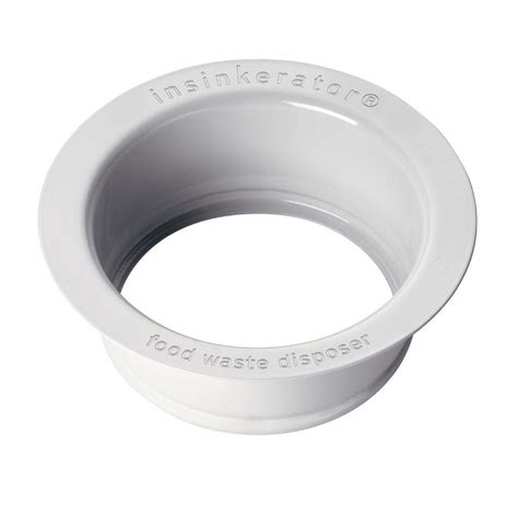 what is a kitchen sink flange insinkerator sink flange in white for insinkerator garbage