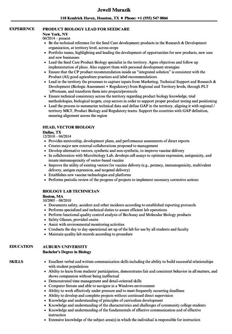 biology student resume examples  resume examples
