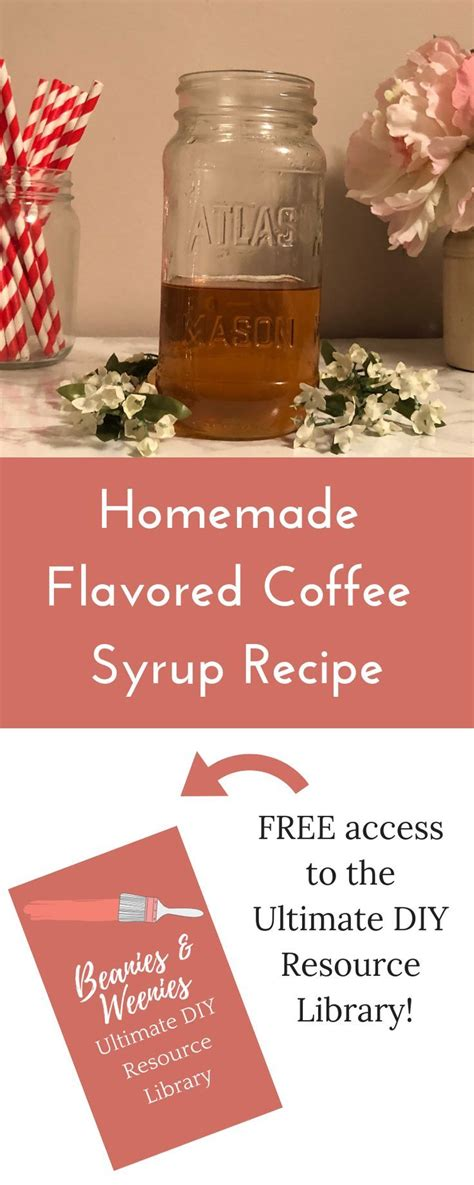 You can basically make any flavor you'd like, but she shows you how to make vanilla syrup and cinnamon syrup. Homemade Flavored Coffee Syrup Recipe | Coffee syrup ...