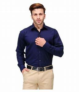 Unique for men Navy Formal Slim Fit Shirt - Buy Unique for ...