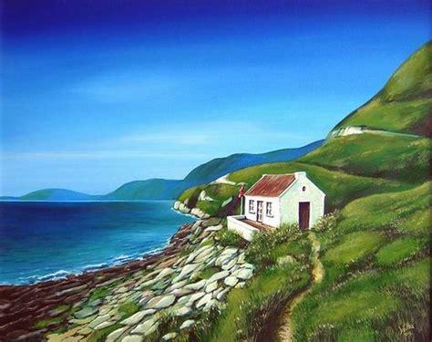 Haus Am Meer  Landschaft, Malerei, Haus, Meer Von Wiltrud