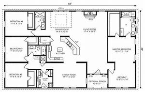 ranch house floor plans 4 bedroom love this simple no With simple house plans 4 bedrooms