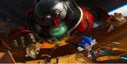 Sonic Hedgehog Tails Robotnik Dr Sega Genesis