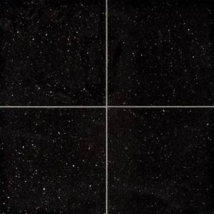 Sample of 24X24 Polished Black Galaxy Granite Tile ...