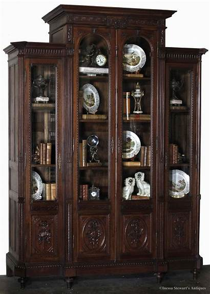 Bookcase Antique Decorate Antiques Library Decorating Decorated