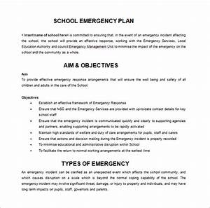 14 emergency plan templates free sample example for Emergency plan template for schools