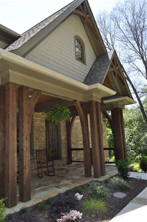 Porch Post Corbels by Western Cedar Beams And Custom Cut Corbels Installed