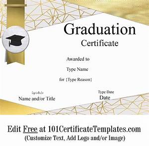 Free Sports Certificates Free Graduation Certificate Template Customize Online