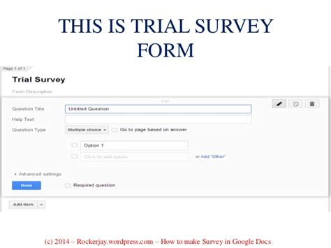 how to make a survey for your business using docs