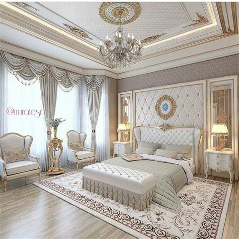 Luxury Master Bedroom Interior Design Ideas by Luxury Bedroom And White Beautiful Chandelier