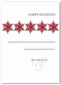 Printable Corporate Holiday Greeting Card Template