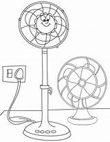 Fan Cartoon Coloring Pages Children Clipart sketch template