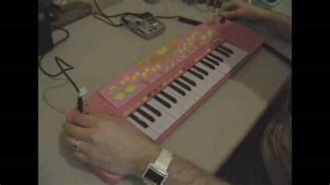Circuit Bent Large Barbie Keyboard Freeform Delusion